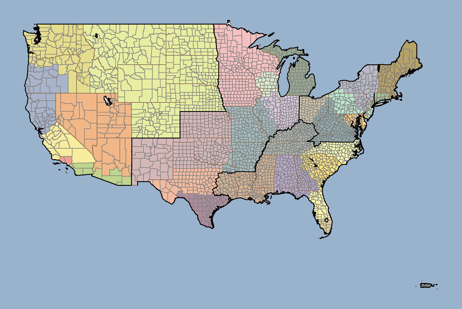 Ready To Use Optimized Territory Templates - Us sales territory map